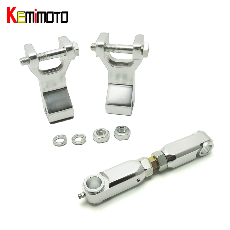 KEMiMOTO For Yamaha Raptor 350 Raptor660 Aluminum ATV Front Rear Lowering Kit Silver Raptor 660 Raptor350 Lowering Link kemimoto for yamaha raptor 700 billet aluminum atv front lowering kit and rear lowering kit silver