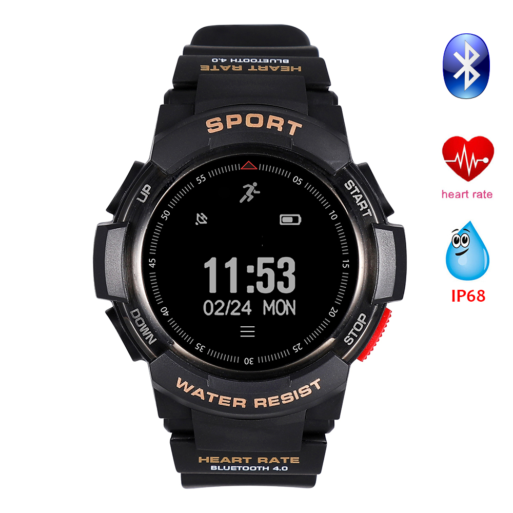 Smart Watch Bluetooth Watch Heart Rate Monitor Fitness Tracker Outdoor Sport Smartwatch IP68 Waterproof for IOS Android phone цена