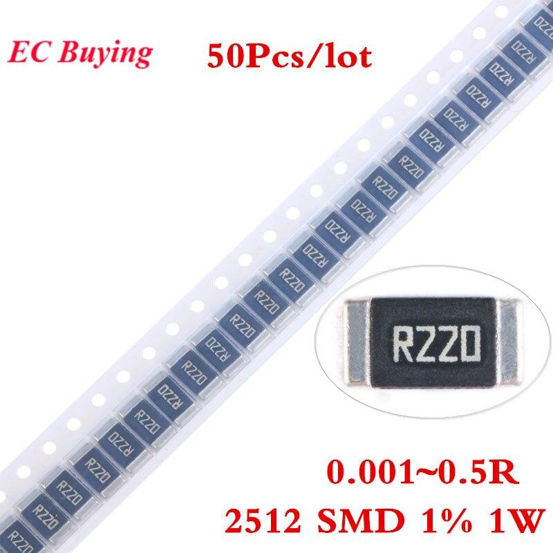Liga 50 pcs 2512 SMD Resistor Chip 1 W 1% 0.001R 0.0015R 0.01R 0.012R 0.03R 0.05R 0.06R 0.1R 0.2R 0.22R 0.3R 0.33R 0.5R Ohm