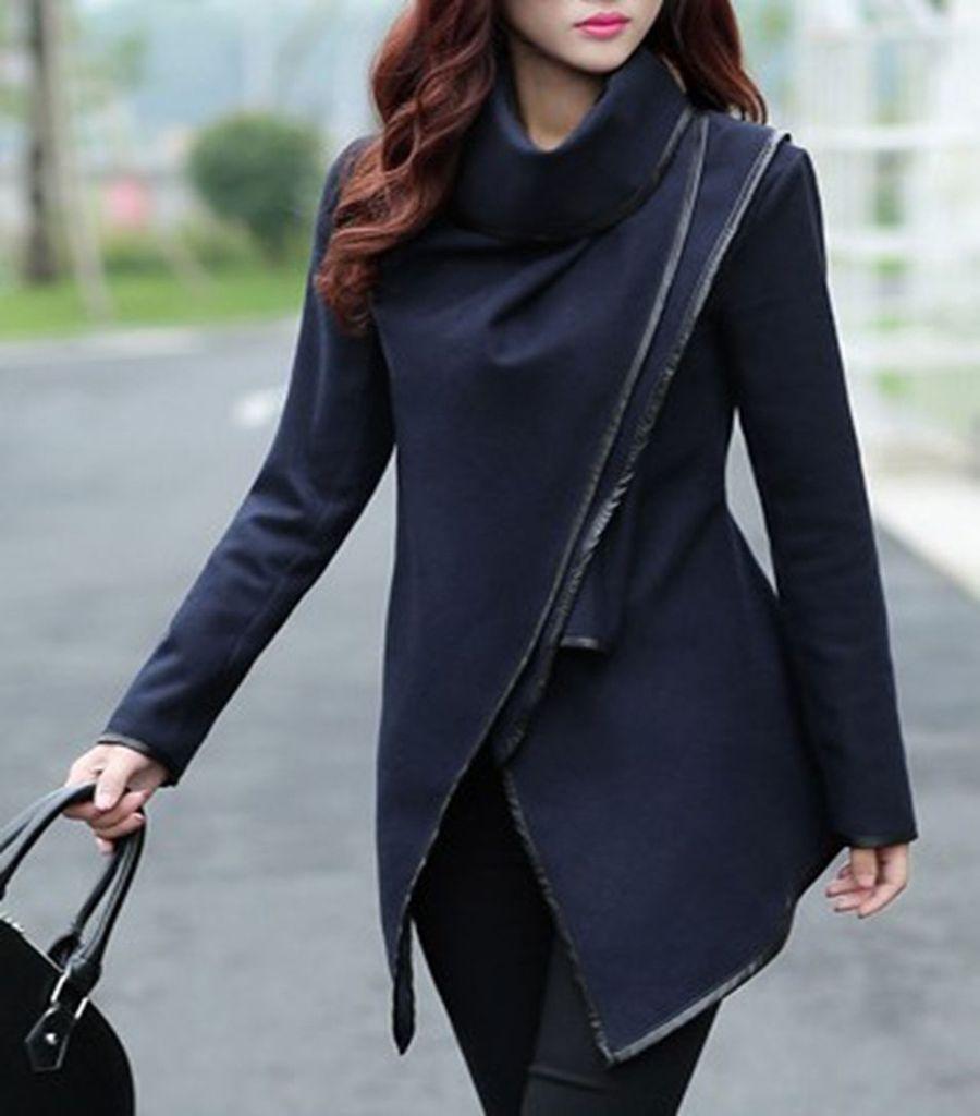 3e0d82e94c55 Women Lady Trench Slim Winter Warm Coat Long Wool Jacket Outwear Parka  Overcoat-in Hoodies   Sweatshirts from Women s Clothing on Aliexpress.com    Alibaba ...