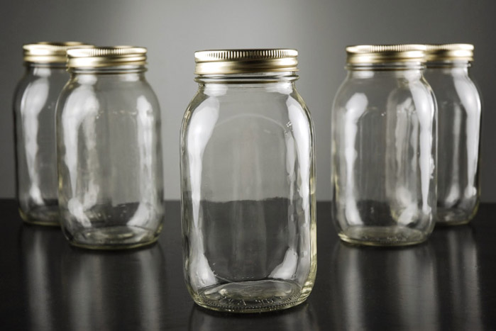 28oz glass mason jars with metal lids for 6pcseach usd80 - Glass Containers With Lids