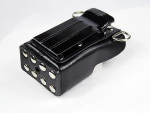 Image 4 - XQF Hard Artificial Leather Case Holster+Belt Clip for Motorola Two Way Radio Walkie Talkie GP328+Plus GP388 GP344 GP638+
