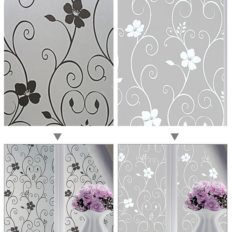 New Self Adhesive Film Waterproof PVC Frosted Glass Opaque Window Privacy Film Sticker Bedroom Bathroom Home Decor Film 45x100cm