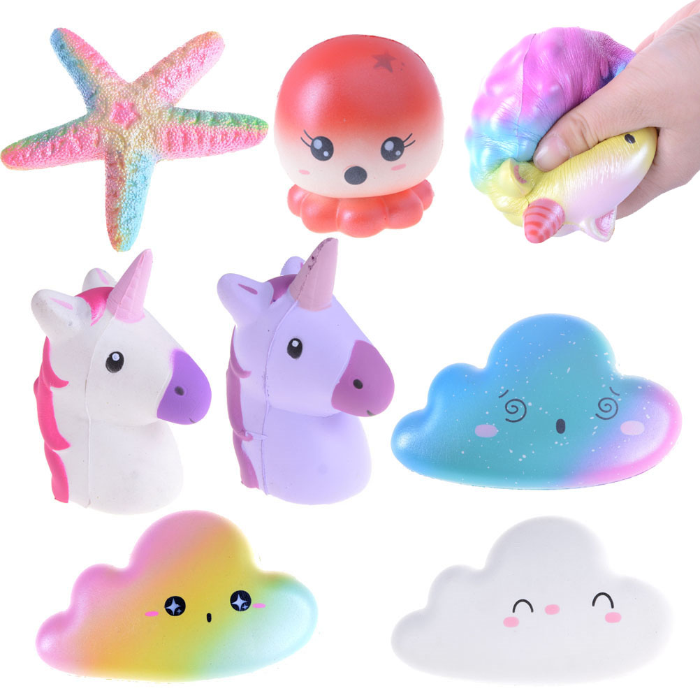 Squishy Unicorn Phone Case : Squishy Jumbo Starfish Unicorn Cloud Super Slow Rising Stretchy Bread Phone Straps Charms ...