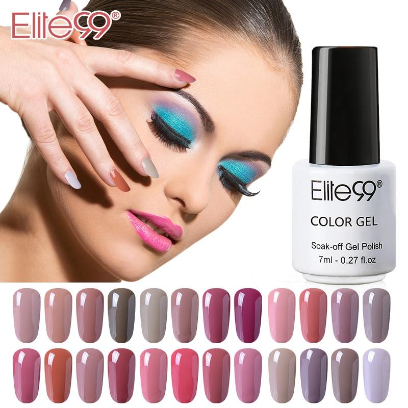 Elite99 Classic Nude Series 1 Pcs 7ml Gel Nail Polish Gel Varnish Nail Art Manicure Primer Fashion Gel Lacquer 24 Colors