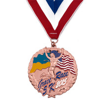Sports  Medal custom cheap hard enamel medals hot sales made metal 3D medal with ribbons
