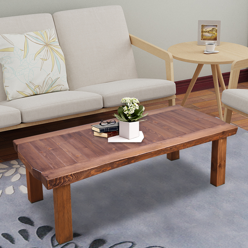 Rustic Solid Wood Coffee And Cocktail Table Living Room Furniture  Rectangular Rustic Wooden Center Table Antique Asian Tea Table In Coffee  Tables From ...