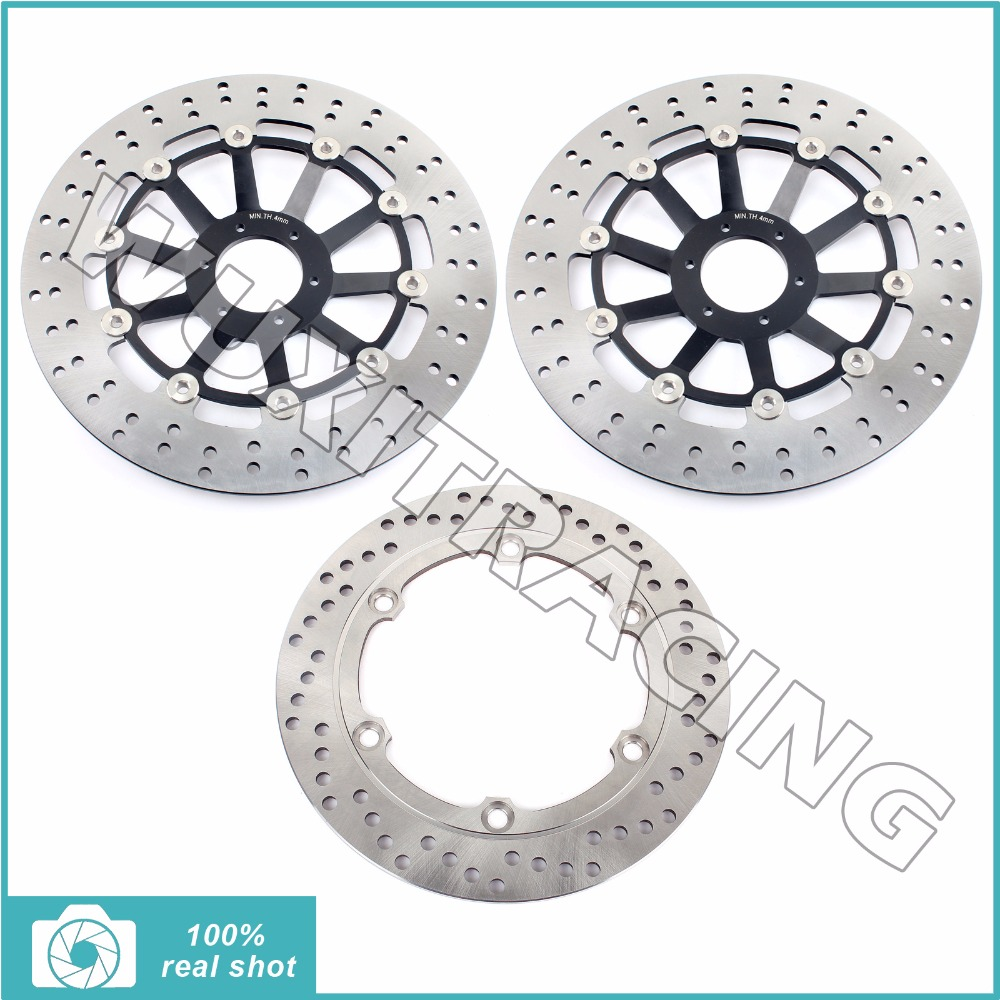 3pcs Motorcycle New Full Set Round Front Rear Brake Discs Rotors for HONDA CBR 1100 CBR1100 XX Blackbird 97 98 1997-1998