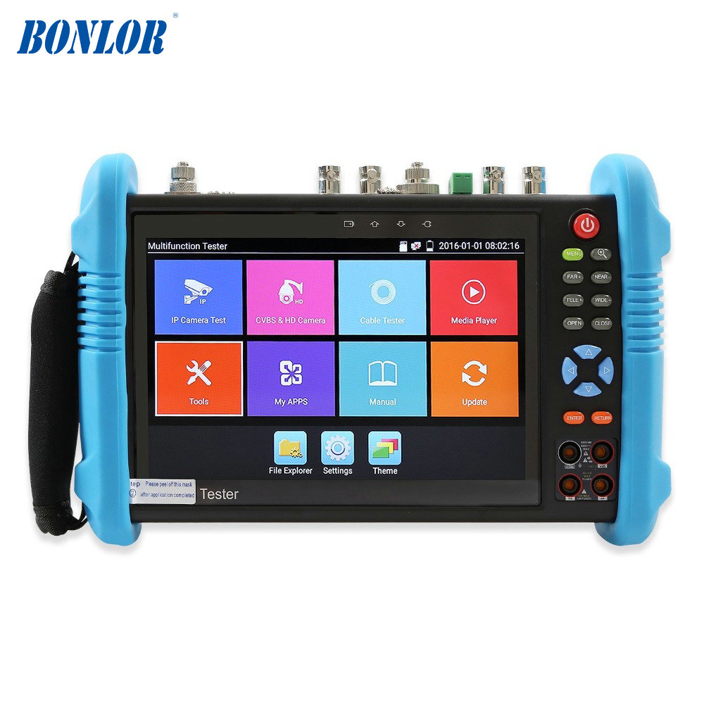 7 Inch IPS Touch Screen IP Camera Tester CCTV Tester CVBS Analog Tester With HD-TVI/CVI/AHD/SDI/POE/WIFI/8G TF Card/4K H.265/HDM