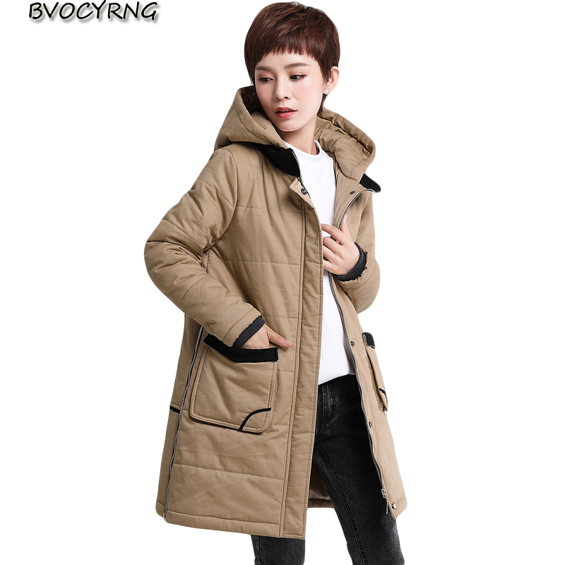 New Middle-aged Women Winter Coat Warm Winter Thick Hooded Parka High Quality Down Cotton Jacket Female Plus Size Overcoat A001 2016 new high quality brand men winter cotton down jacket coat parka clothing men and women hooded warm outerwear overcoat