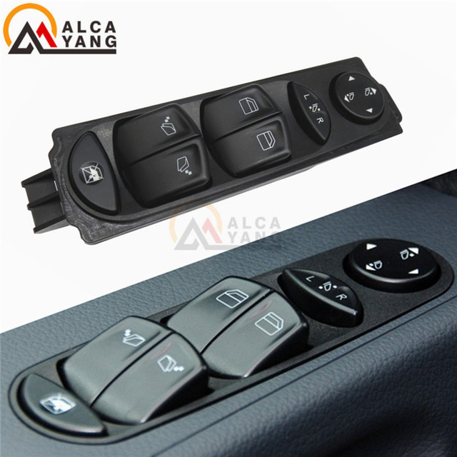 Interruptor de Control de la ventana frontal lateral del conductor para Mercedes Viton W639 Sprinter II 906 Fensterheber Schalttaste Taste Vorne Links