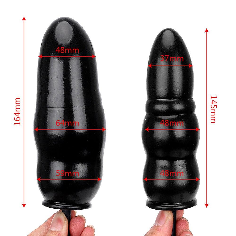 Inflatable Anal Plug Backyard Massager Expandable Butt Plug Anal Dilator Sex Toys