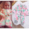 0-18M Newborn Infant Baby Girls Romper Clothes Rose Flower Cute Bebes Body Playsuit Long Sleeve Zipper Toddler Kids Clothes