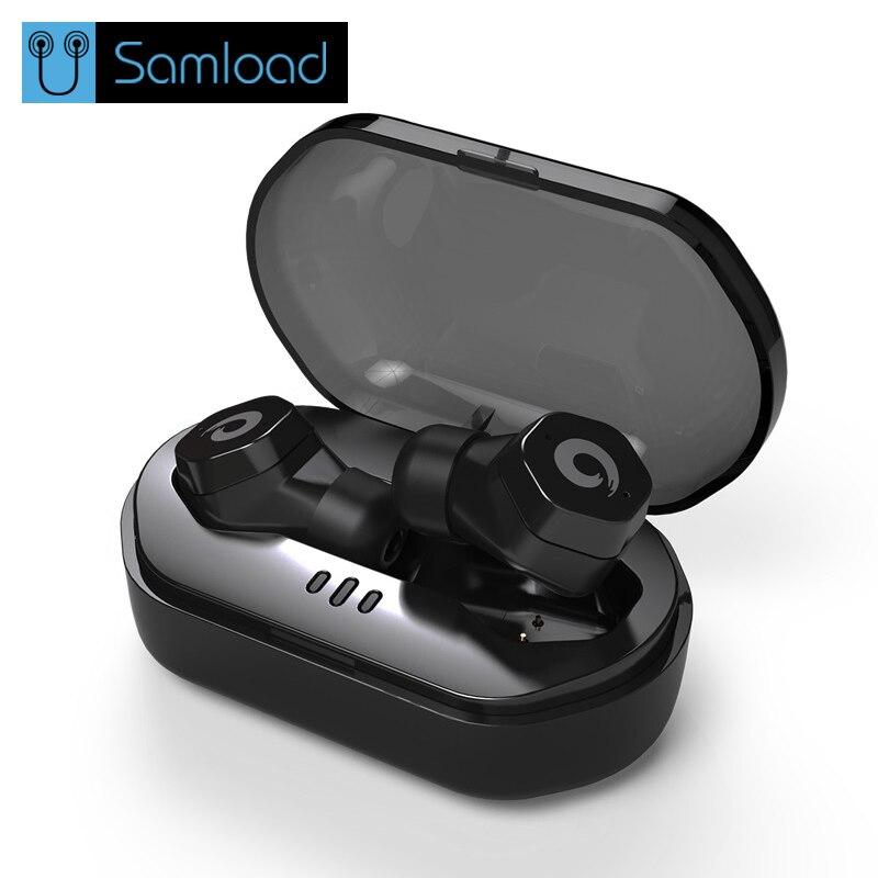 Samload Étanche Bluetooth 4.2 Écouteur IPX7 Touch Control Sans Fil Écouteurs F8 TWS Sans Fil Casque pour iphone Siri À Distance