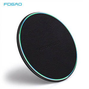 FDGAO Qi Wireless Charger For iPhone 8 Plus X XR XS QC 3.0 10W Fast Quick Charging for Samsung S10 S9 S8 Note 9 8 USB Charge Pad