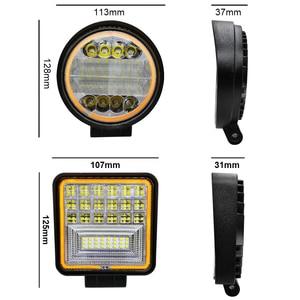 Image 3 - roadsun 48W 72W LED Bar White Light with Yellow Halo Led Work Lights for Tractors Off road DRL Car SUV Trucks Fog Lamp 12V 24V