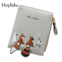 Female Wallets Mini Purse Women Money-Bags Embroidery Animal-Pattern Small Girls Designer