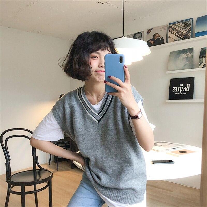 Kpop Harajuku Brands Women 2018 New Spring Pullover Women Sweaters Retro Pull Rabbit Velvet Knitting Sweater Women Sweater Vest