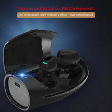 The invisible mini High quality comfortable 2in1 Bluetooth headset with Mic waterproof Wireless cordless charging Mobile charger