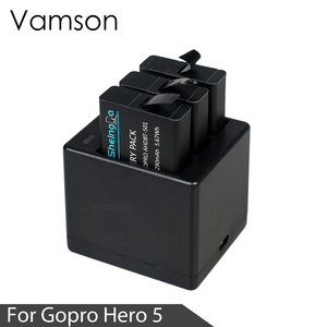 Image 5 - Vamson Three Ports Battery Charger Battery Charging Dock For GoPro 8 7 5 6 for Go Pro Hero 8 7 6 5 Black