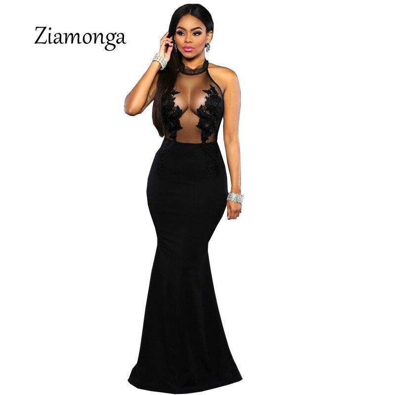 00ca2e52281 Vintage Sexy bal moulante sirène robe soirée élégant 2018 formel fête longue  Maxi robe Vestido Longo