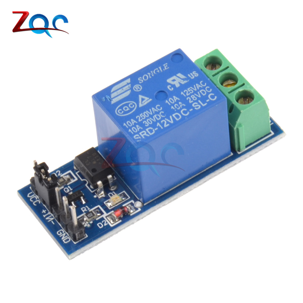 DC 12V 1 Channel Relay Module Optocouple Board Shield For Arduino PIC AVR DSP ARM MCU tai shen ts sdr 5v 2 channel relay expansion module for dsp avr mcu arm white
