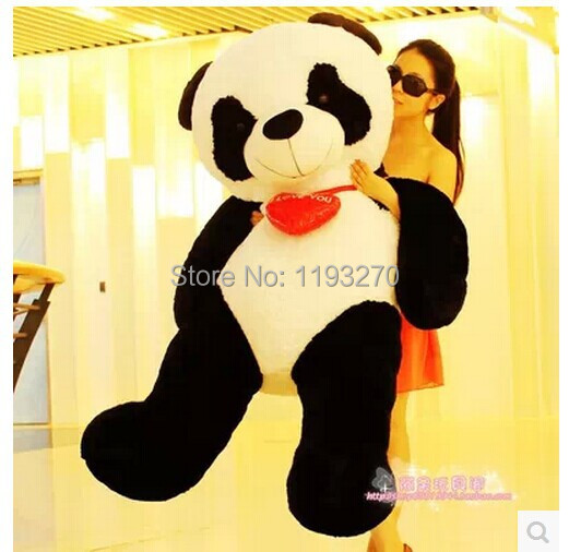 huge 140cm panda plush toy  i love you red heart panda doll ,stuffing panda hugging pillow , Christmas gift w1804 40cm super cute plush toy panda doll pets panda panda pillow feather cotton as a gift to the children and friends