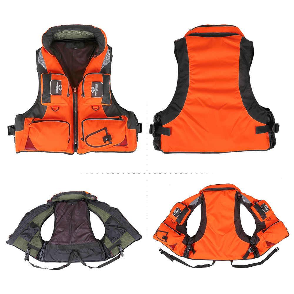 Männer Frauen Angeln Weste Sicherheit Fisch Jacke Weste Bademode Für Driften Bootfahren kajak Überleben Wasser Sport Karpfen Angeln Pesca