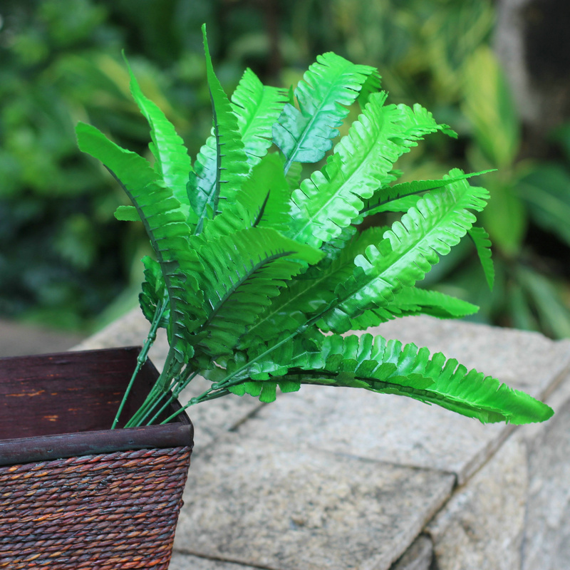 Artificial Fern Floral Room Crafts Plastic Arrangements Arts Accent Piece Grass Flower Green Home Decor Lively