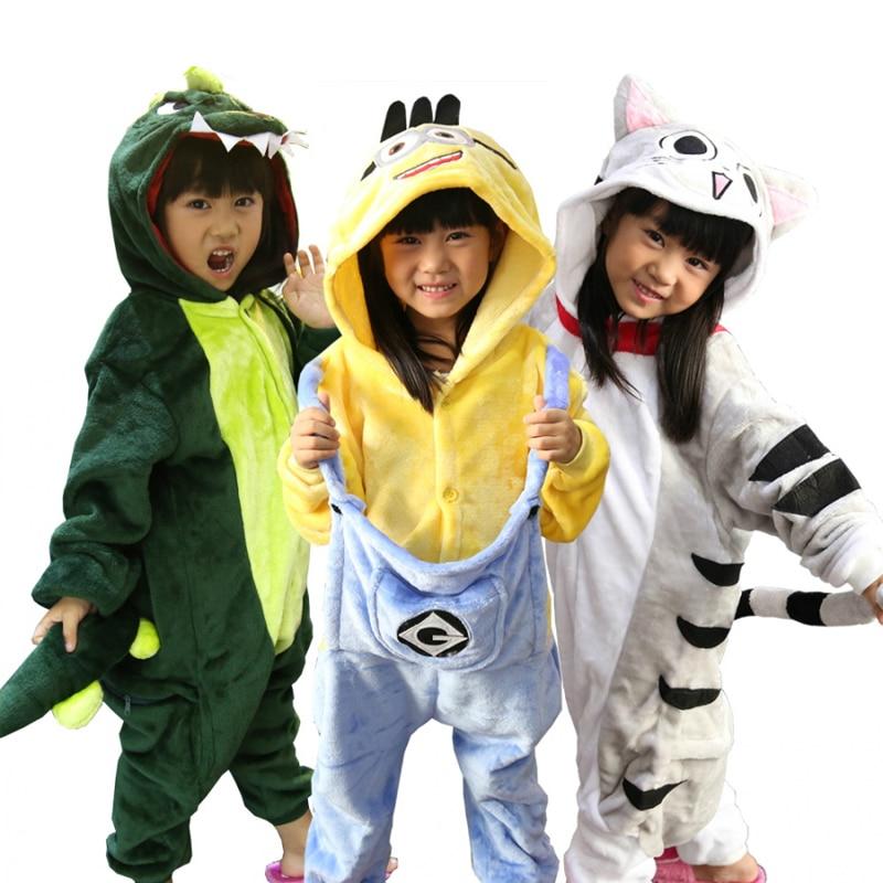Pajamas for girls Boys sleepwear Totoro Dinosaur Pikachu Panda kids Unicorn Pig Cat Stitc Baby pyjama animal children's Pajamas