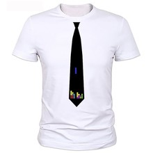 Tie printed T shirt NEW Short sleeves hommes manches Brand Design homme hauts Tees mode Casual cravate t-shirts pour homme