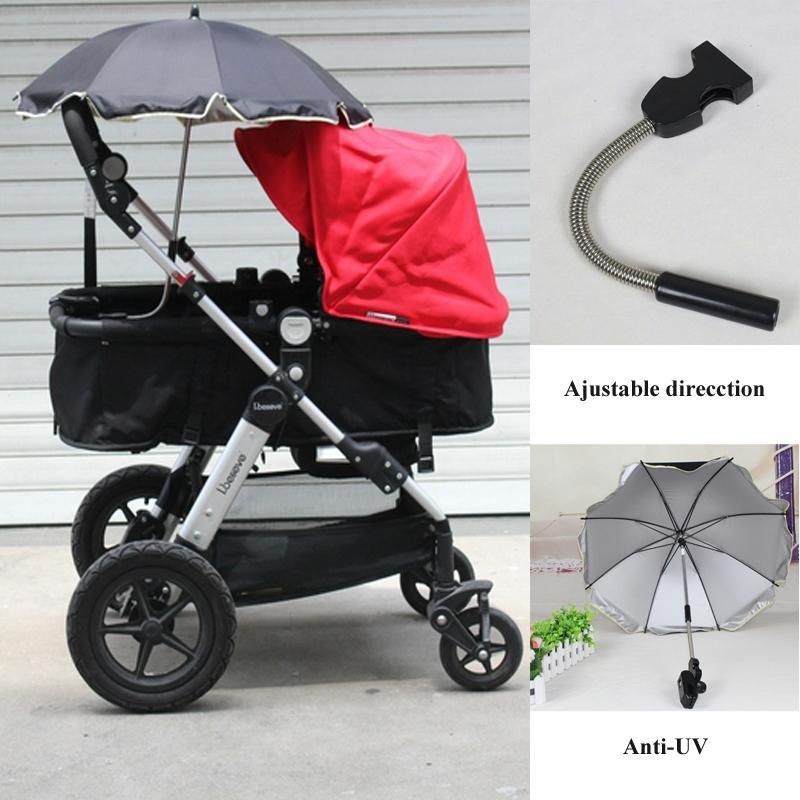 The new children umbrella baby stroller umbrella fixture anti-UV sunshade