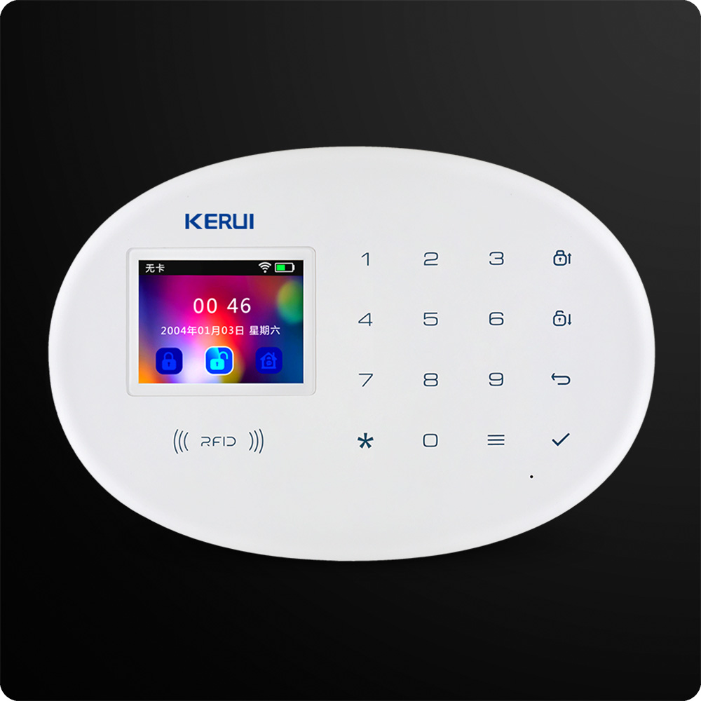 Image 2 - W20 New Model Wireless 2.4 inch Touch Panel WiFi GSM Security Burglar Alarm System APP RFID Card Control Mini Movable PIR Siren-in Alarm System Kits from Security & Protection