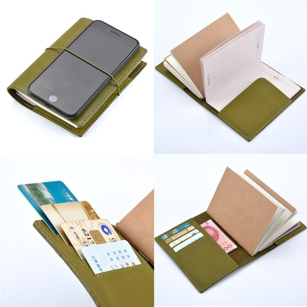 100% Äkta Läder Notebook Planner Handgjorda Bullet Journal Oljevax - Block och anteckningsböcker - Foto 3