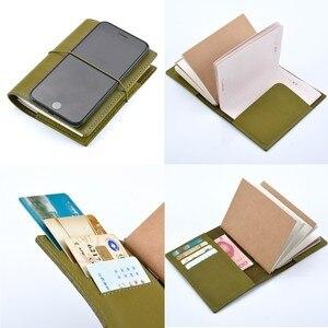 Image 4 - 100% echtem Leder Notebook Planer Handgemachte Journal Öl Wachs Leder Agenda Sketch Persönliche Tagebuch Schule Schreibwaren
