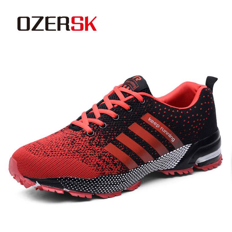 OZERSK Hot Sale Men Shoes Men Casual Shoes Summer Unisex Lightweight Breathable Mesh Fashion Male Shoes Sneakers Plus Size 35-47