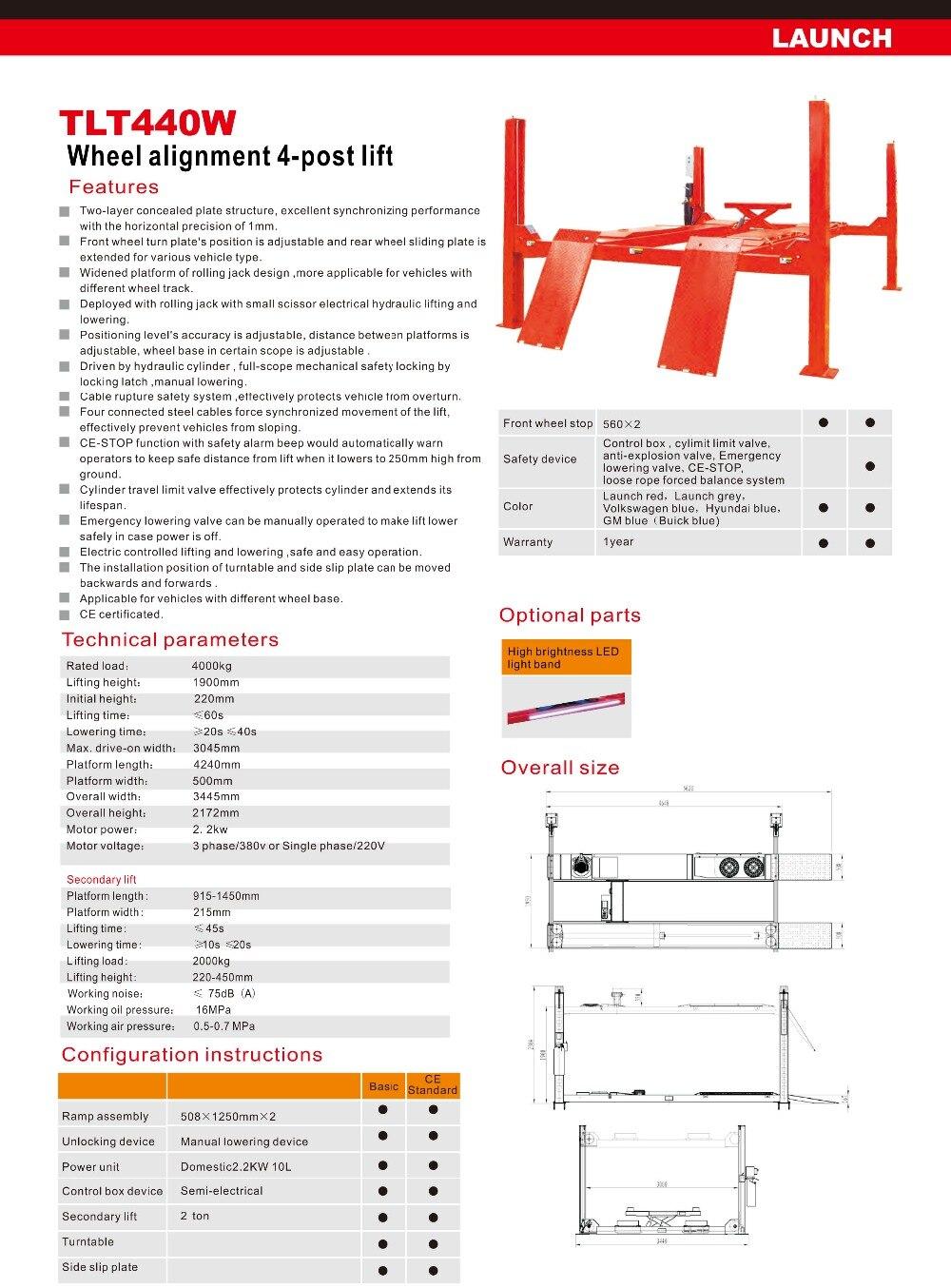 TLT440w  Launch Lift's Catalogue-15