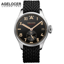 Original Agelocer Roman Arabic Numerals Men Watch Nato Strap Clock Man Watches Mens Top Brand Luxury Relogios Masculino