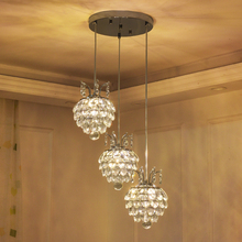 Pendant Lamp Cord Crystal Light Chrome Hanging Modern Lights for Dining Room Kitchen