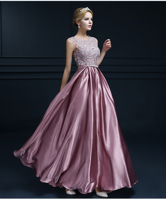 e1c7c232628 Satin Bridesmaid Dresses New arrival party bow appliques gown sexy V  opening back pink gold red