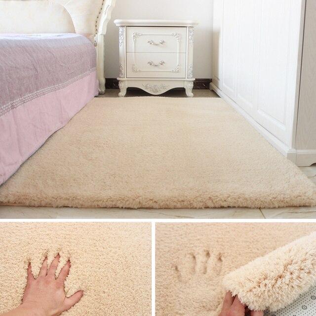 Einfache Moderne Solide Lamm Samt Bett Vorne Nacht Schlafzimmer