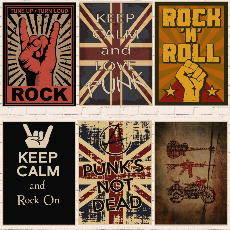 PERSONALISED PUNK ROCK PISTOLS OI MUSIC VINTAGE METAL WALL SIGN RETRO