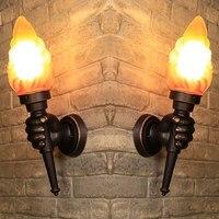 Антикварные настенные лампы бар Кофе магазин Настенные светильники для дома открытый Водонепроницаемый внешний настенный светильник Ванн