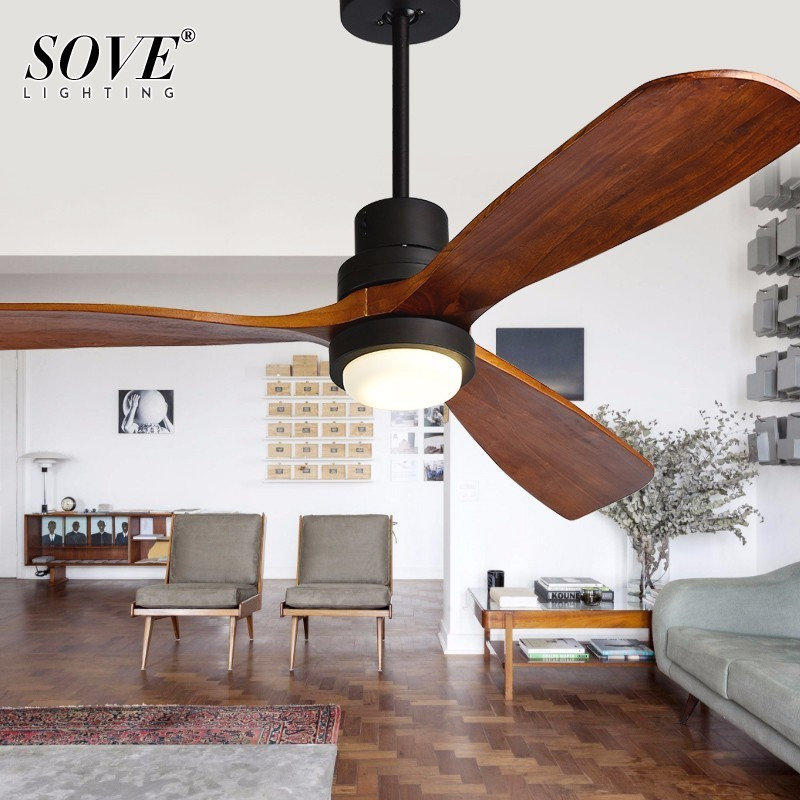 Sove Wooden Ceiling Fans Without Light Bedroom 220v Ceiling Fan Wood Ceiling  Fans With Lights Remote Control Ventilador De Teto In Ceiling Fans From  Lights ...