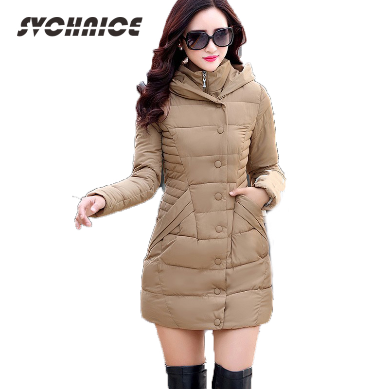 2018 Autumn Winter Jacket Women Cotton-padded Plus Size Winter Coat Women Thicken Warm Long Parkas Womens Hooded Overcoat M-XXXL