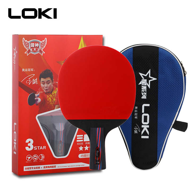 LOKI 3 Star Carbon Table Tennis Rackets Pimples In Rubber Powerful Hitting Ping Pong Paddle Bat Offensive