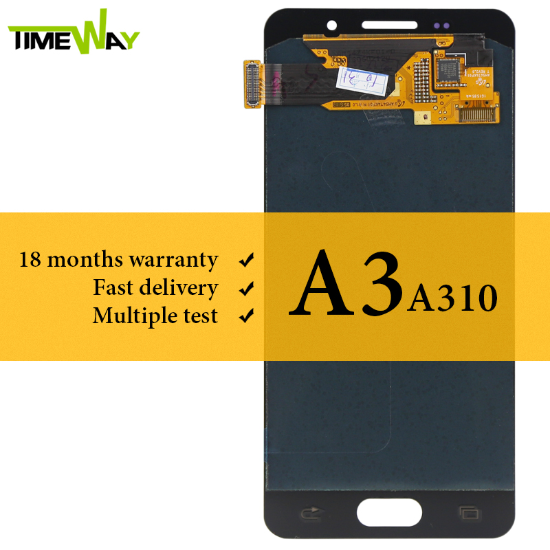 <font><b>AMOLED</b></font> Screen For <font><b>Samsung</b></font> A3 2016 <font><b>LCD</b></font> Display No Dead Pixel 4.7 Inch Touch Screen With Digitizer Assembly For <font><b>Samsung</b></font> <font><b>A310</b></font> <font><b>LCD</b></font> image