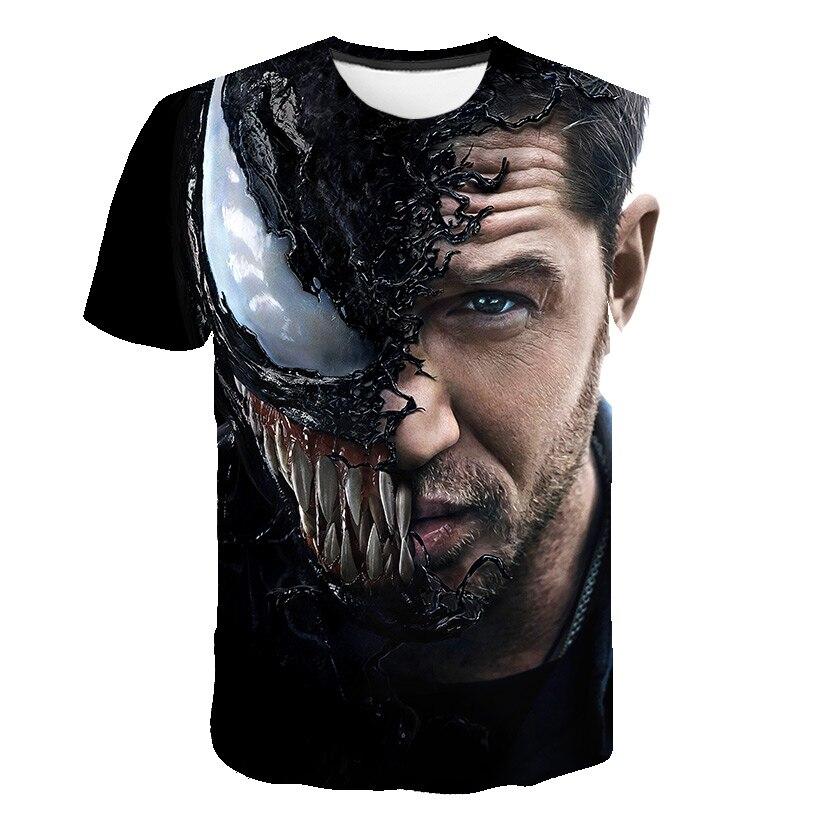 Новейшая футболка Веном с 3D принтом, футболка s для мужчин и женщин, Повседневная футболка с коротким рукавом для фитнеса, футболка Дэдпул, футболки с черепом, топы азиатского размера - Цвет: 1583