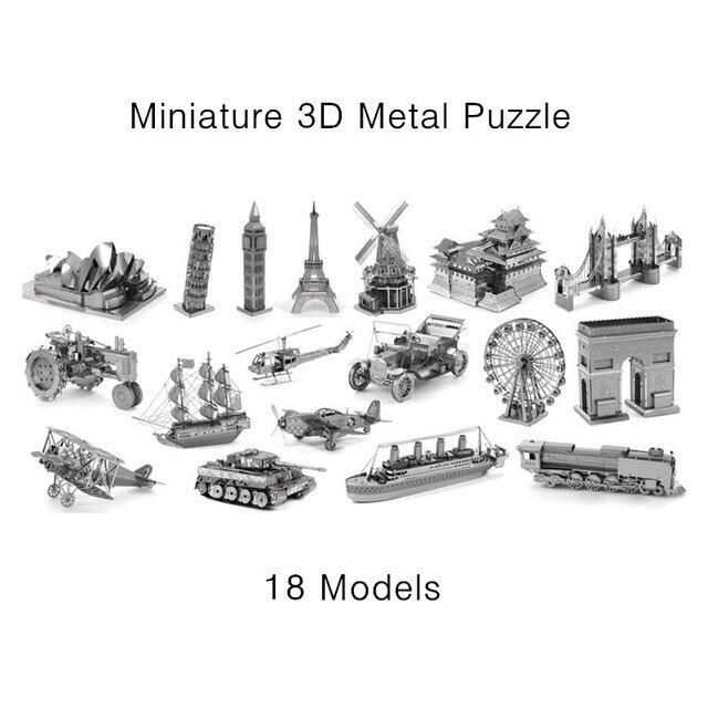 Miniature 3D Metal Model Puzzle Building Kits Laser