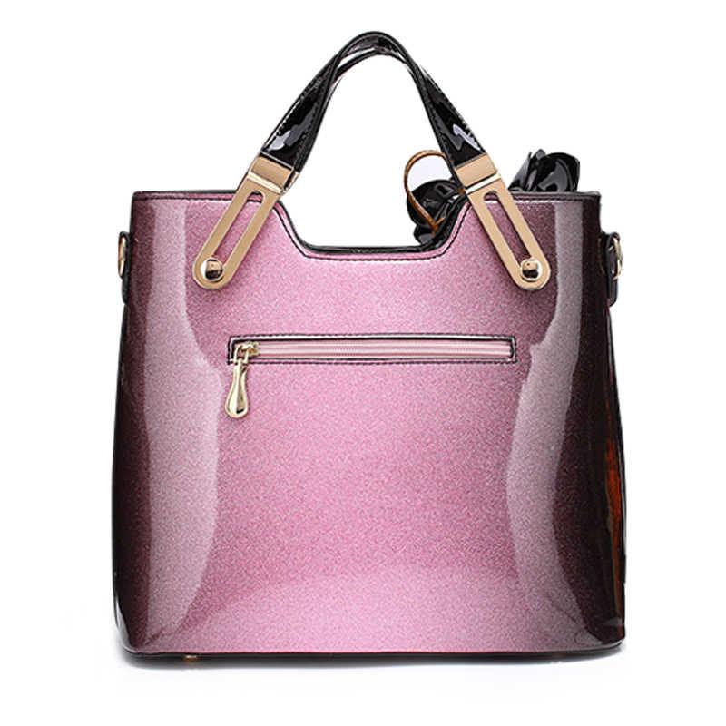 ... 2018 New Women Patent Leather Handbags Designer High Quality Women  Messenger Bag Luxury Ladies Shoulder Bag ... a2a017a97fa84